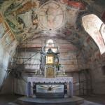 Gotyckie malowidła w środku kościoła pw. NMP w Lubecku