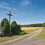 Krzyż drewniany na Lubockach
